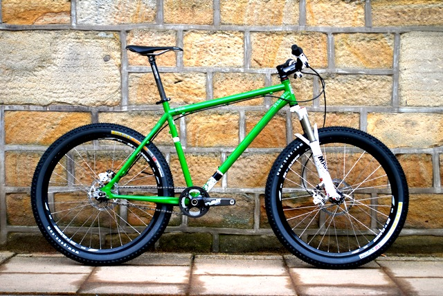 The Kinesis Decade Virsa in all its jeytastic singlespeed glory.