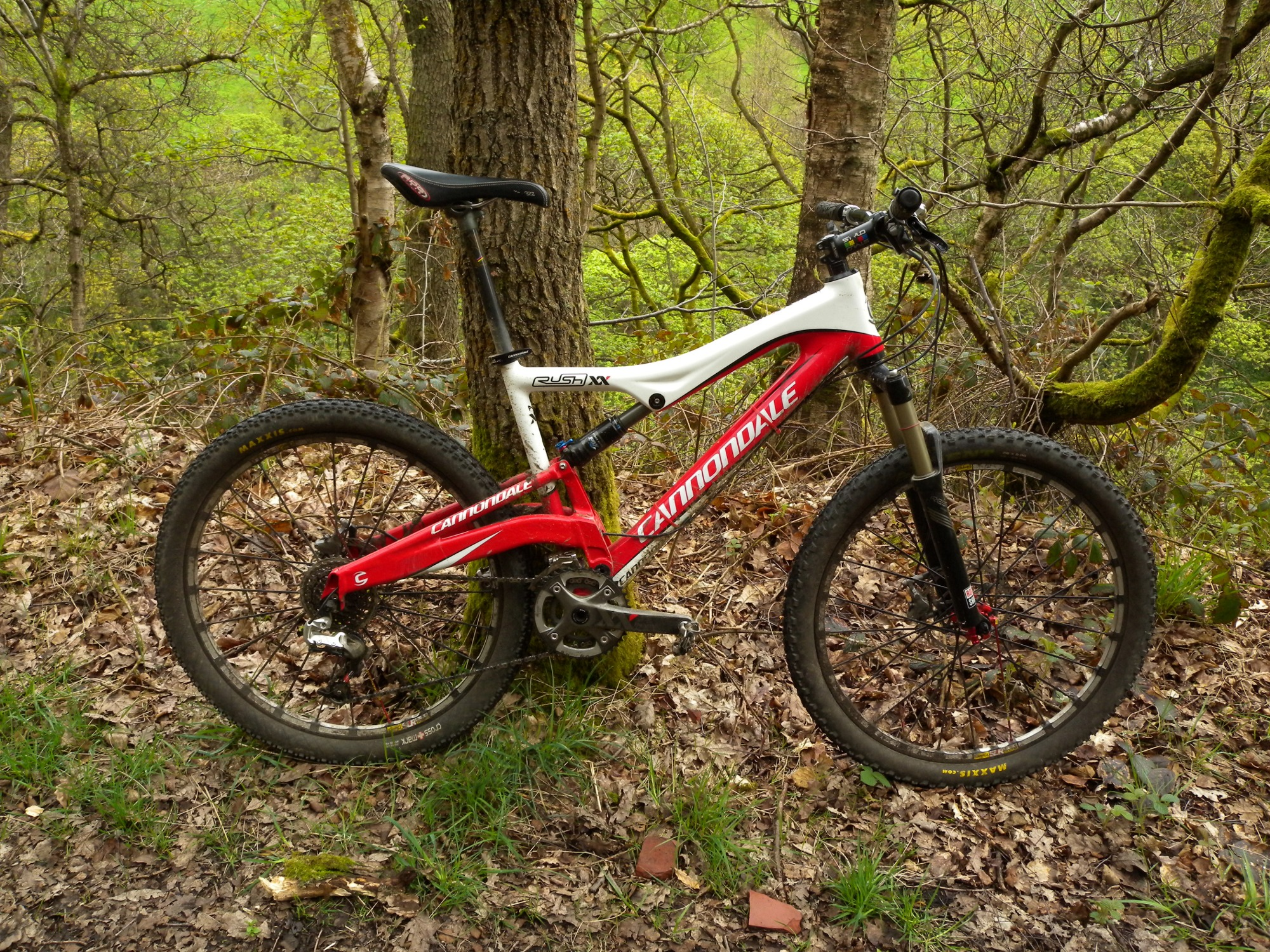The Cannondale Rush XX in't woods