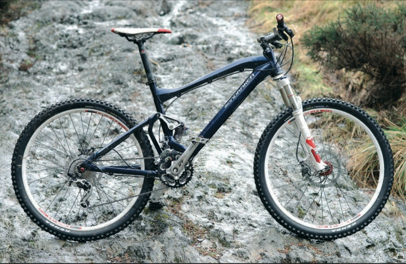 The Mondraker Factor RR; 120mm of travel but needs a steady pilot when it gets rough