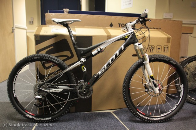130cc9695ec In issue 71 of Singletrack Magazine we're having a grouptest of carbon  fibre race bikes – and this rather lovely Scott Spark RC is both carbon  fibre and ...