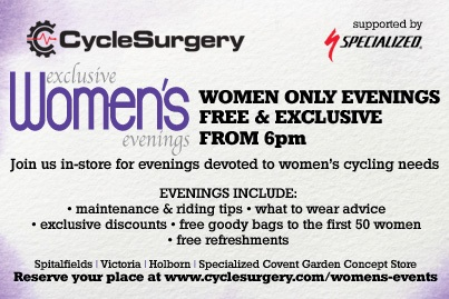 Women Banner cycle Surgery 2012