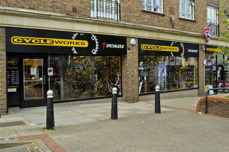 Just one of the Cycleworks - this time in Leatherhead