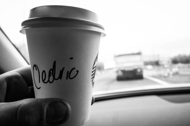 Road Rule #1. You never give your real name at Starbucks.