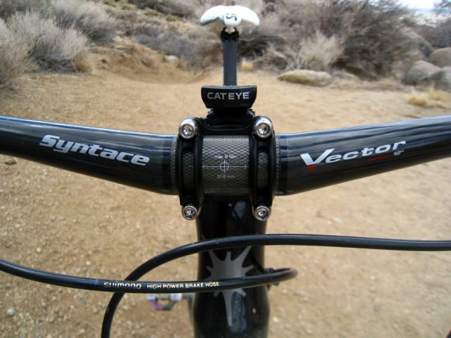 Syntace Vector Carbon 12 bar front