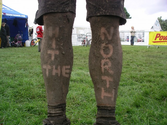 The writing's in the mud