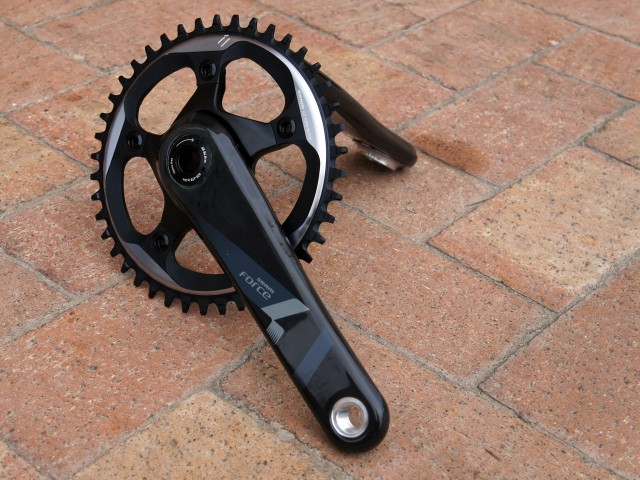 SRAM's corporate carbon crankset with 110mm spider