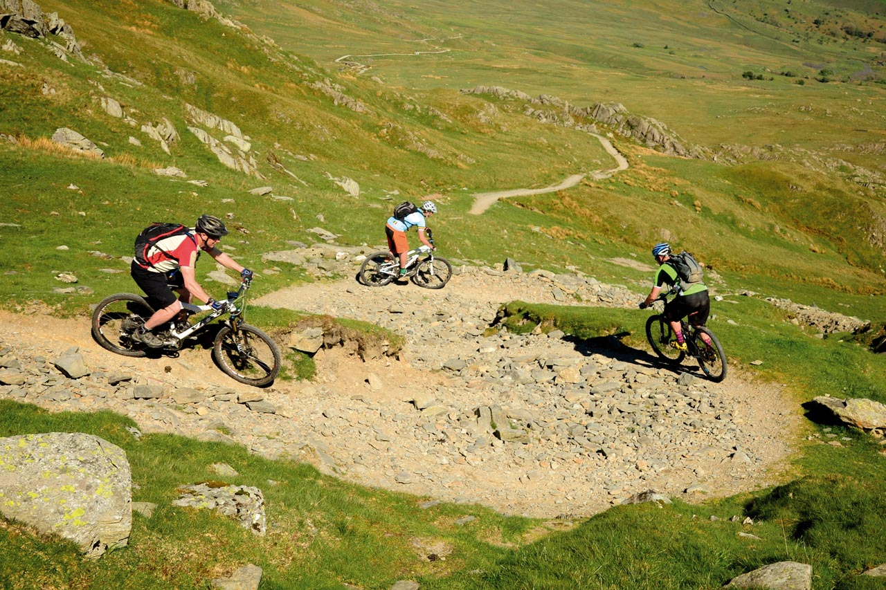 The Singletrack Formation Trackstanding Team chose this moment to show off their skills.