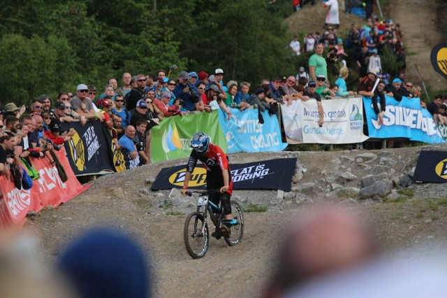 Blenkinsop Battling His Way Down After Puncturing Up Top