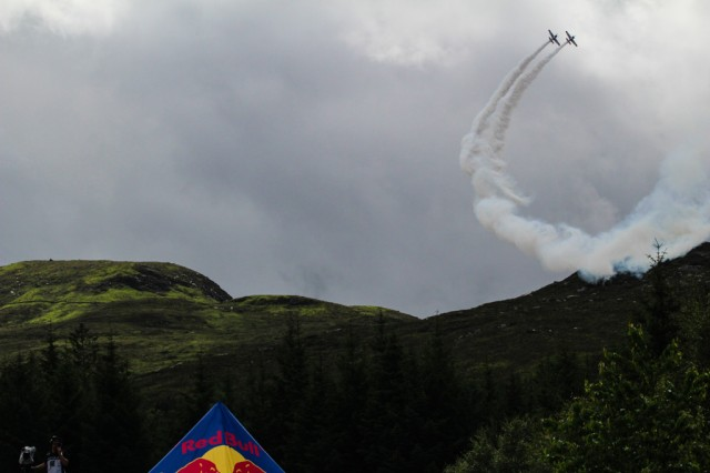 Red Bull Air Display team entertained the crowds