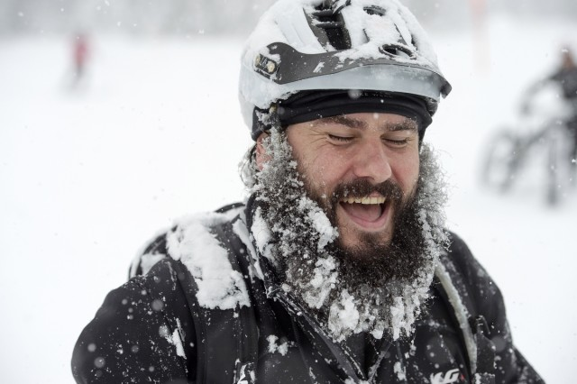 Is that Brian Blessed? Photo by: Stephan Boegli / Snow Epic / SPORTZPICS