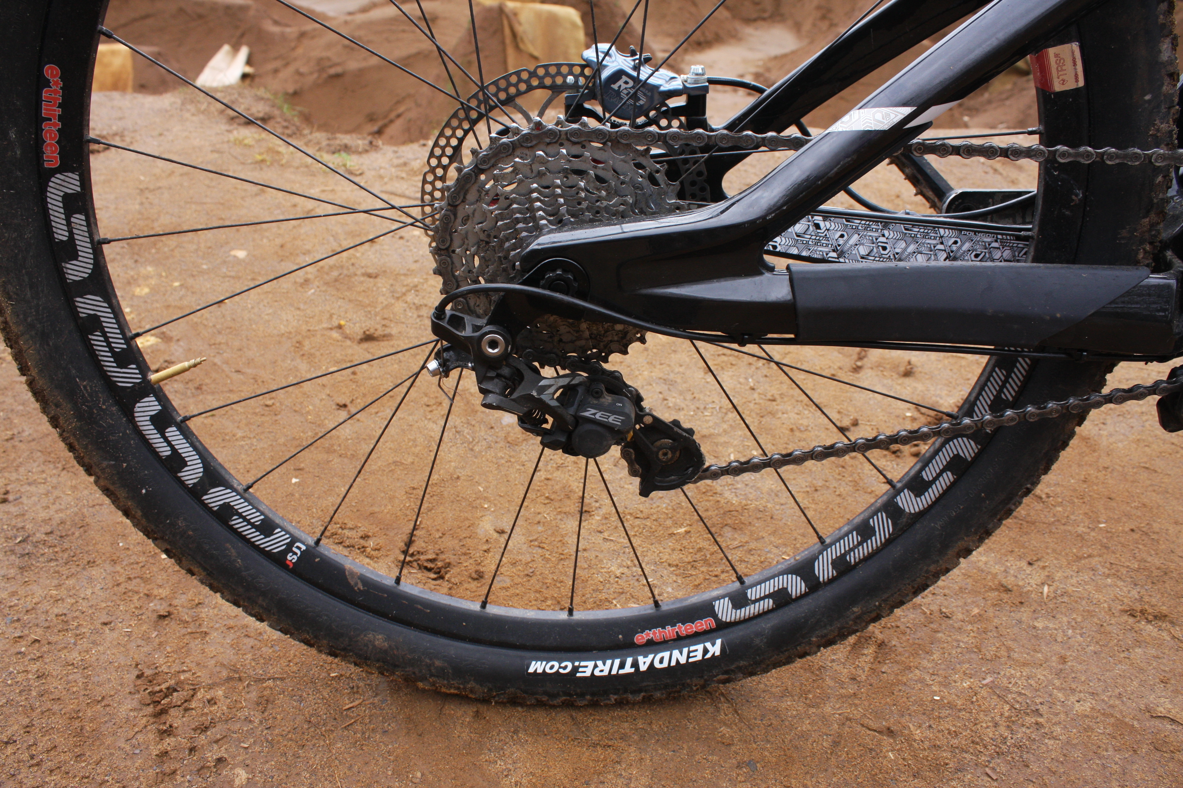 Singletrack Magazine Pro Bike Sam Reynolds Polygon Collosus Rd Shimano Zee M640 Short 10 Speed At The Back For Cage Mech With A Small