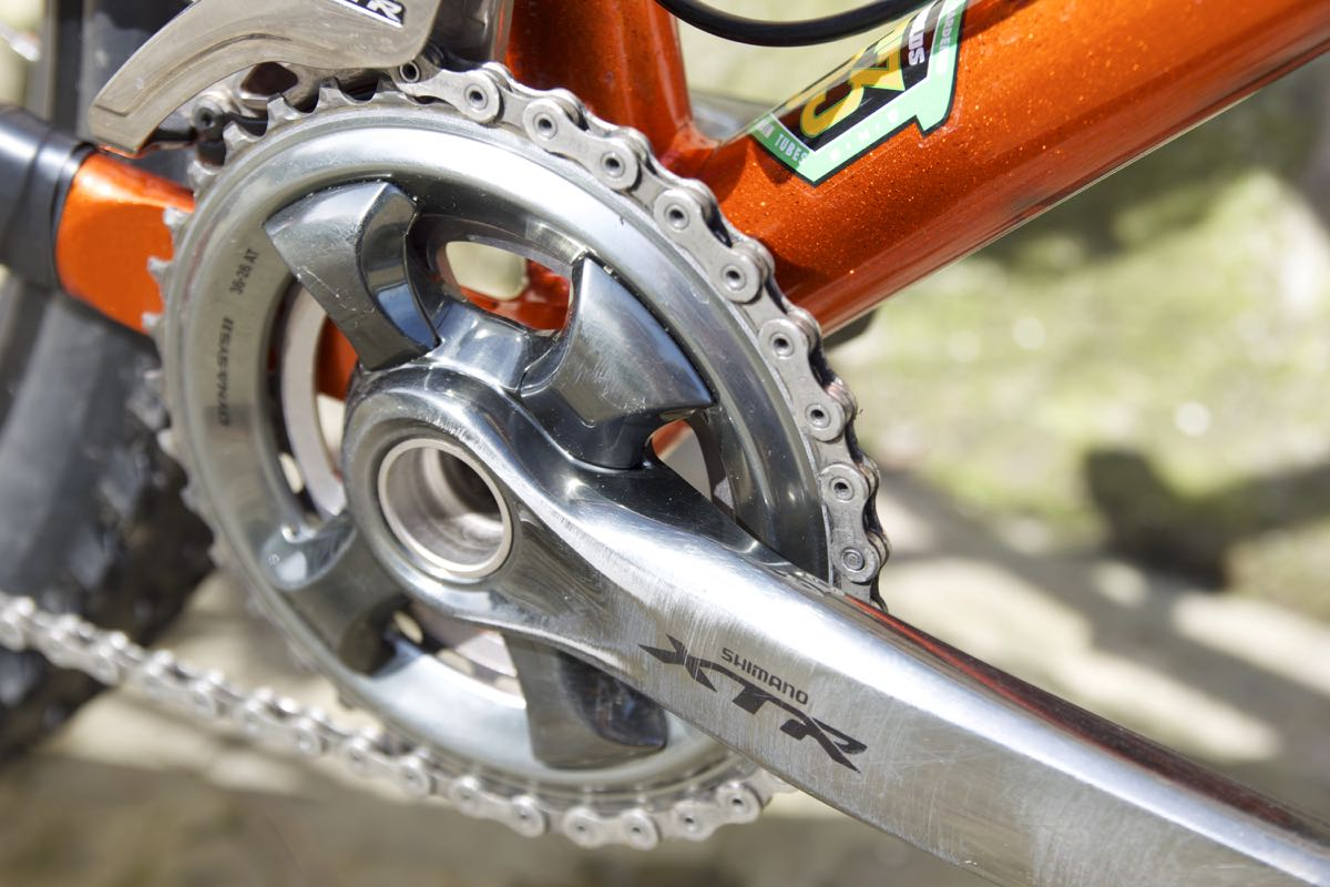 The XTR Race chainset.
