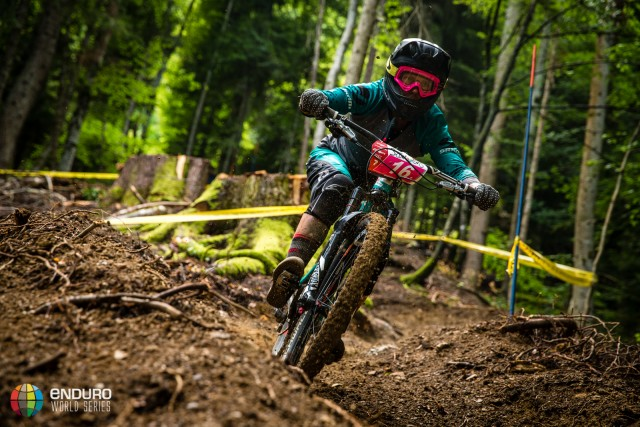 Anka Martin on stage two during Enduro World Series round 4, Samoens, France, 2015. Photo by Matt Wragg.