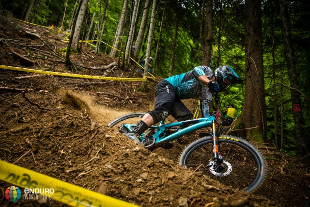 Richie Rude on stage two during Enduro World Series round 4, Samoens, France, 2015. Photo by Matt Wragg.