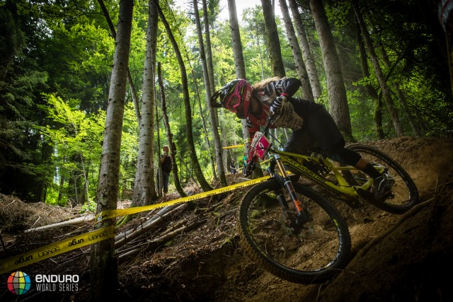 Isabeau Courdurier on stage two during Enduro World Series round 4, Samoens, France, 2015. Photo by Matt Wragg.