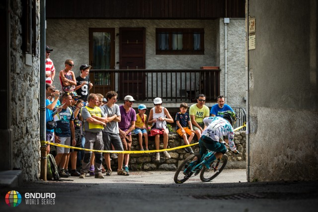 Jared Graves o stage three during Enduro World Series round 4, Samoens, France, 2015. Photo by Matt Wragg.