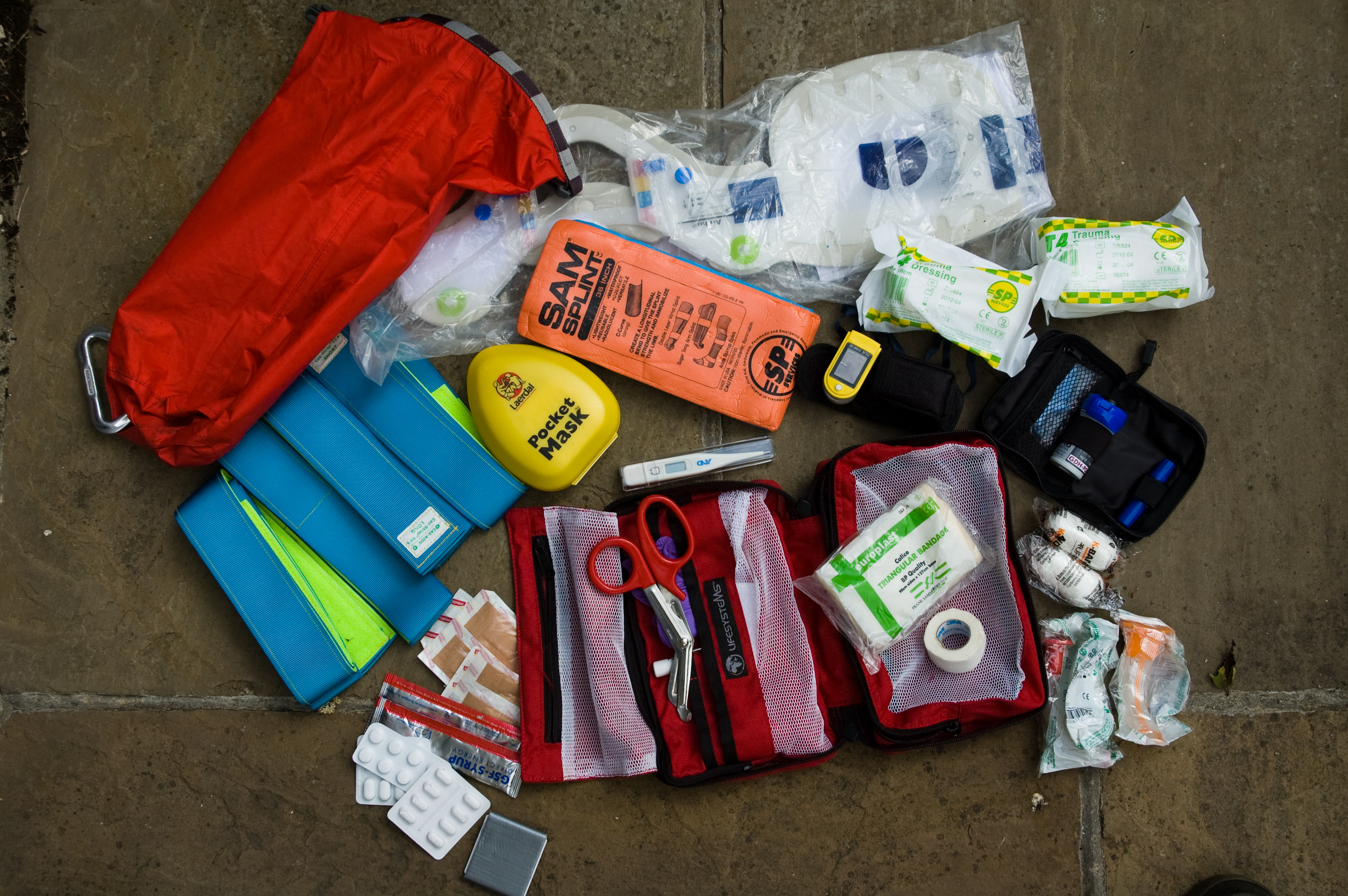The mother load – a mountain rescue team member's personal 'just enough to hold the fort' pack.
