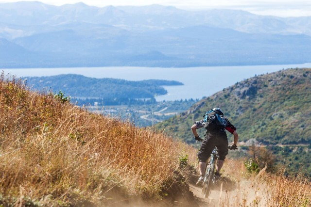 Bariloche offers great riding and a stunning backdrop