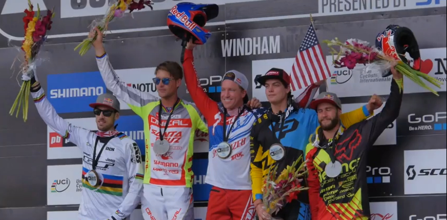 Aaron Gwin delights the American fans