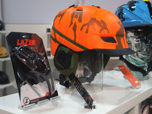 Lazer's Dissent: GoPro-ready camo winter lid: Perfect for filming that fatbike hunting trip. :-(