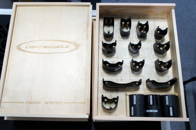 Another beautiful presentation box- This time from Light-Bicycle (of Chinese Carbon Rim fame)