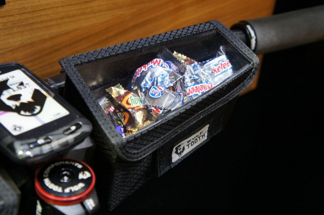 Trouble remembering to eat? Wolf Tooth's bar bag makes it hard to forget. (And the Velcro/magnetic closure was oddly satisfying.)