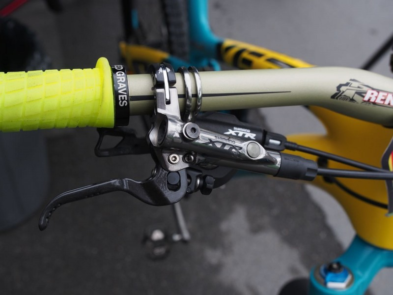Jared running XTR brake levers
