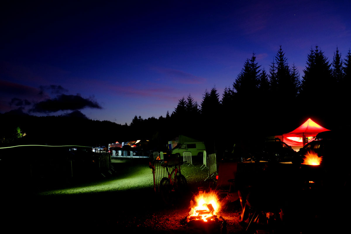 singletrack magazine fort william night shot image