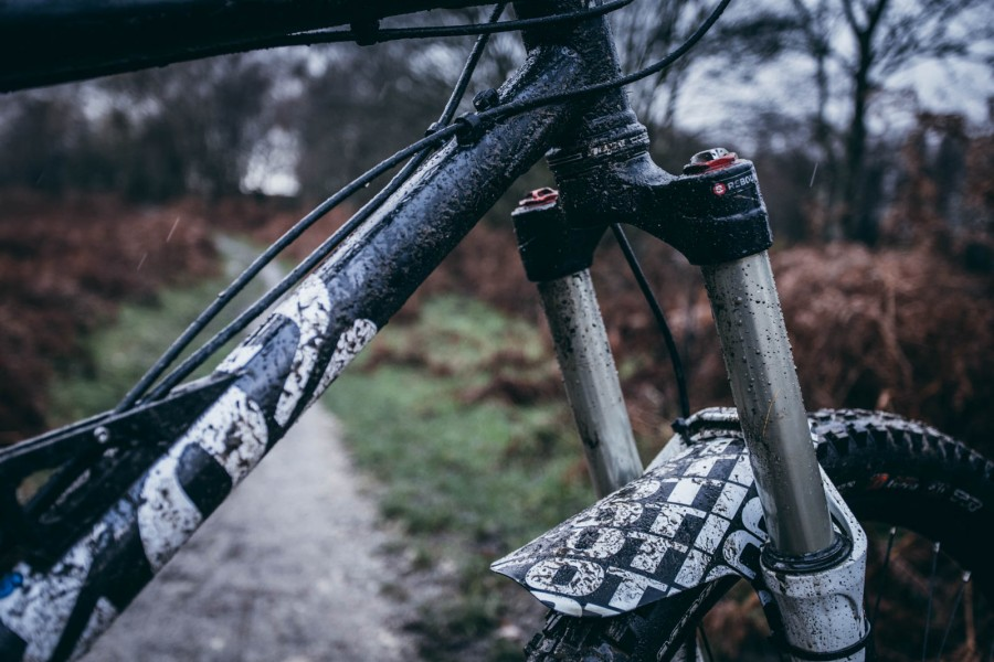 Did we mention it was wet? BOS forks were boss