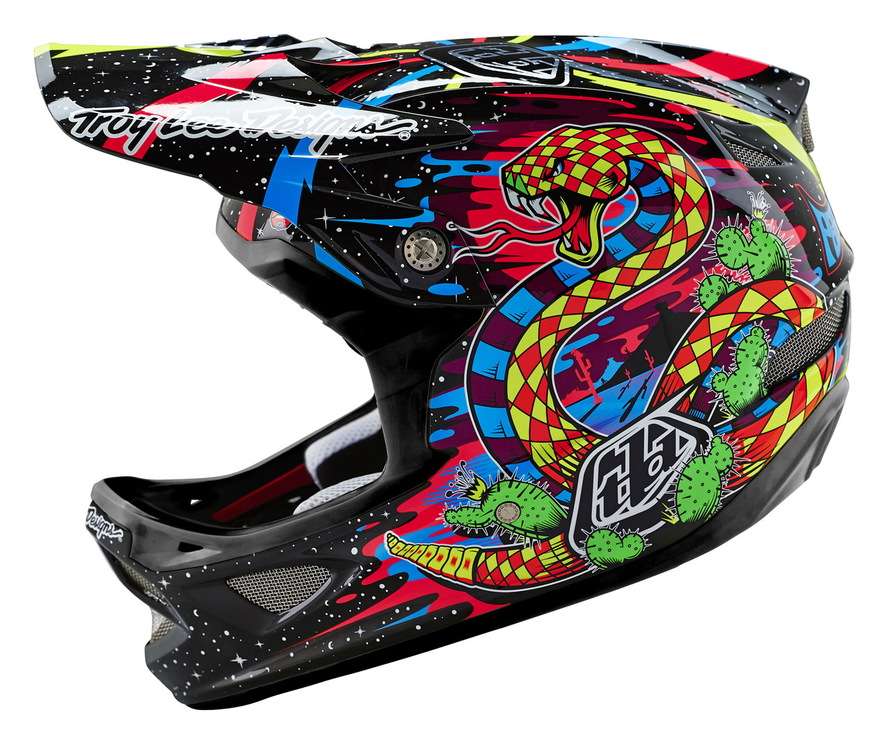 Troy Lee Designs - D3 Blacklight Carbon Black
