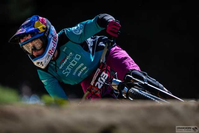 Jill Kintner competing in the Dual Slope and Style, Crankworx Rotorua 2016
