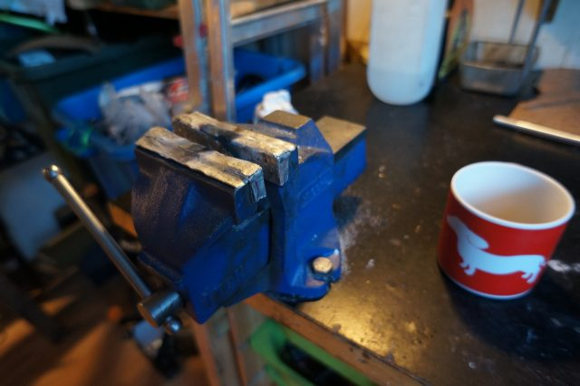 Joe's bench vice has seen a bit of action
