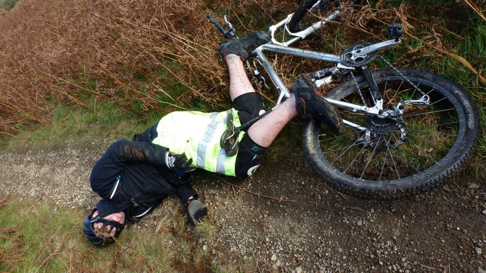 UK mountain bike adventure crash Singletrack Magazine
