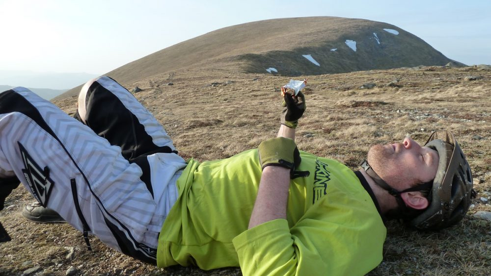 Well deserved rest UK mountain bike adventure Singletrack Magazine