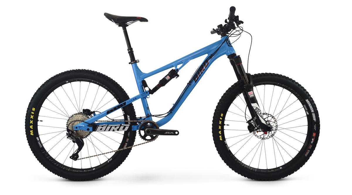 bird aeris 120 dual suspension trail bike alloy rockshox 27.5