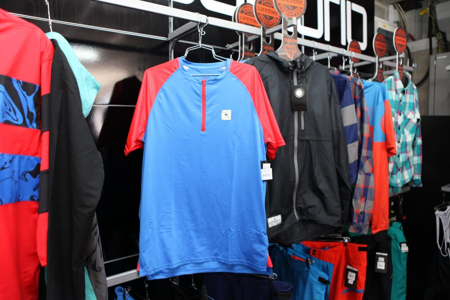 We liked the look of the Ridgeline jersey. Good primary colours. £40.00