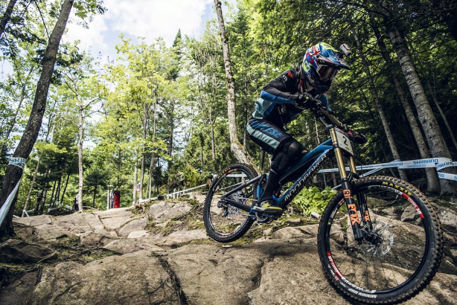 Danny Hart performs at the UCI DH World Tour in Mont Saint Anne, Canada on August 6th, 2016 // Bartek Wolinski/Red Bull Content Pool // P-20160807-00071 // Usage for editorial use only // Please go to www.redbullcontentpool.com for further information. //