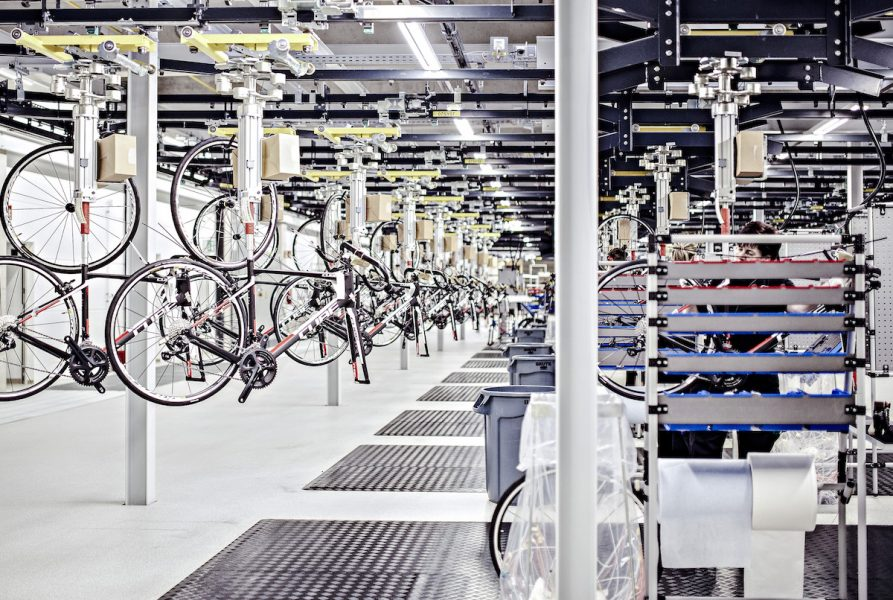 cube bikes factory germany assembly line