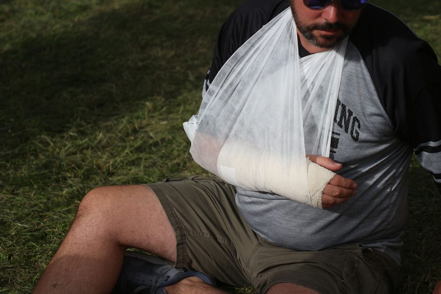 ard rock enduro race broken arm injury