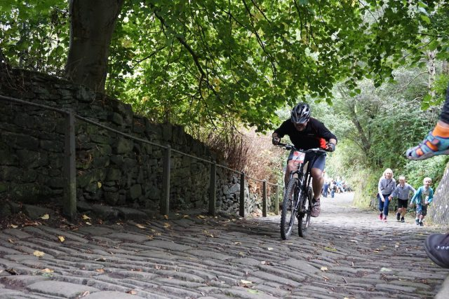 up the buttress hebden bridge climb steep cobble