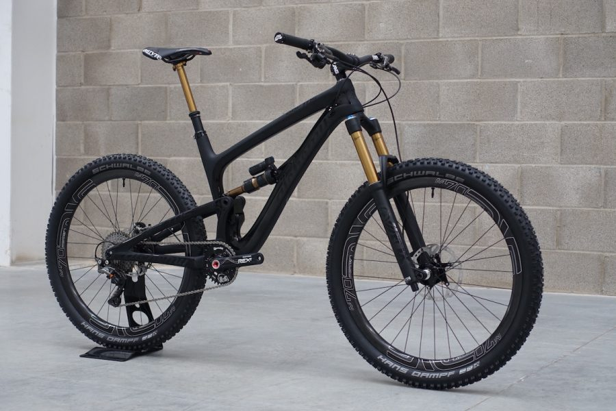 alchemy arktos carbon enduro bike full suspension fox transfer rotor kashima factory saddleback 36 27.5 us made