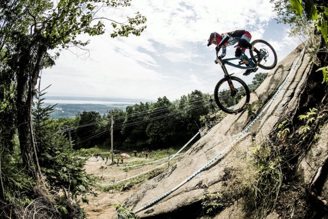 Tahnee Seagrave performs at the UCI DH World Tour in Mont Saint Anne, Canada on August 6th, 2016 // Bartek Wolinski/Red Bull Content Pool