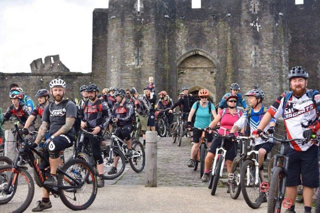 Caerphilly mountain bikers head out to clear the trails