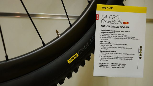 Mavic XA Pro Carbon wheels, Eurobike 2016