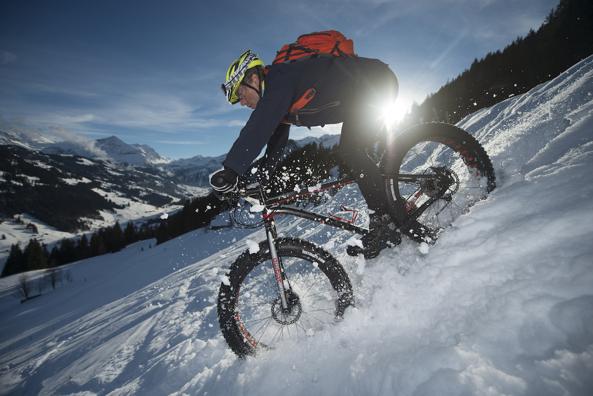 fat bike snow downhill