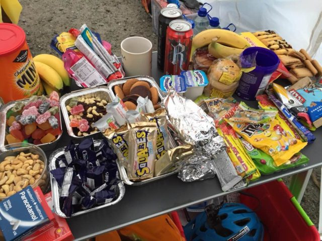 relentless scotland fort william 24 hour endurance pits tomato sauce skeleton food junk