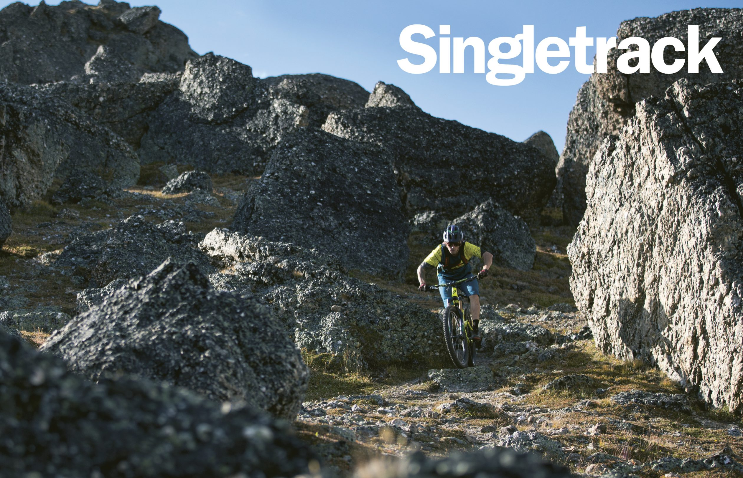 singletrack 109 cover shot rocks canada
