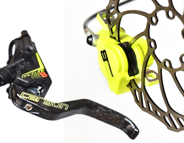 magura disc brakes yellow fluoro limited edition carbon rotor