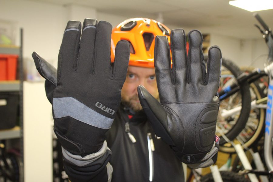mark alker bluegrass orange helmet gloves giro winter bontrager velocis jacket
