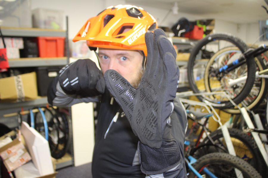 mark alker bluegrass orange helmet gloves giro winter bontrager velocis jacket altura